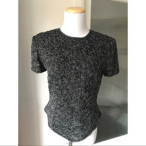 Adriana Papell Boutique sequin top